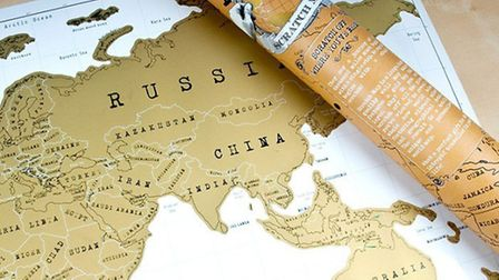 Personalised Scratch Map Of The World | Gettingpersonal.co.uk - £14.99