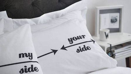 Personalised My Side Your Side Pillowcases | Twisted Twee Homewares - £26