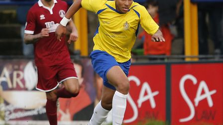 Jonathan Edwards has rejoined St Albans City along with Peterborough team-mate Harry Anderson. Pictu