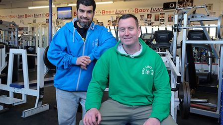 Body Limits owner Abs Bichri and manager Peter Wilkins in the gym which has been forced to move prem