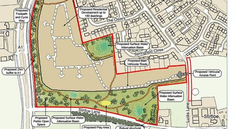 An artist's impression of Gladman's proposed site in Buckden.