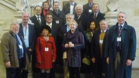 Members of the Federation of Small Businesses at the Houses of Parliament