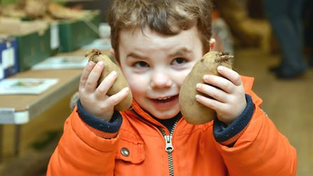 Cambridgeshire Self Sufficiency Potato Day, at Commemoration Hall, Zach, from Ramsey St Marys,