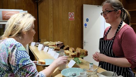 Tea and cakes being served up at Royston Craft Fair