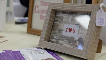 Valentine themed gifts at the Royston Craft Fair