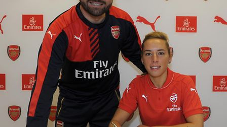 Jordan Nobbs has signed a new contract with Arsenal Ladies. Picture: ARSENAL FC/DAVID PRICE