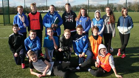 Participants on the Junior Sports Leaders course held in February