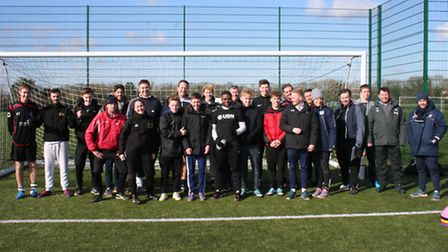 The group of new coaches who picked up their Level One Sports Certificate