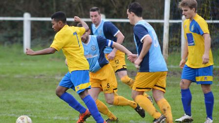 Alex Yearwood picked up two assists but Harpenden Town lose in cup semi-final. Picture: KEVIN LINES