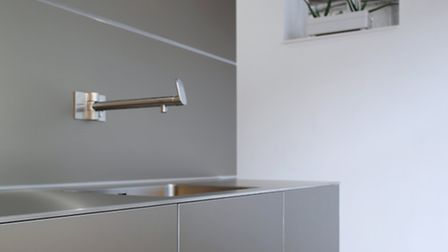 Futuristic: a bulthaup design in stainless steel