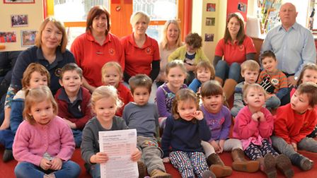 Great Gransden Pre-School good Ofsted, Lexi, holding the report,