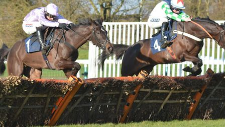 Winner Ma Du Fou (right) and North Hill Harvey served up a thrilling finish to the Listed Sidney Ban