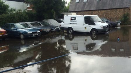 The yard surface had to be replaced at Park Street Test Centre as it was also affected by rainwater