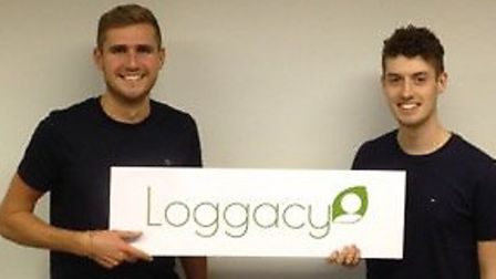 Thomas Staley and Dominic Jackson at the launch of Loggacy.