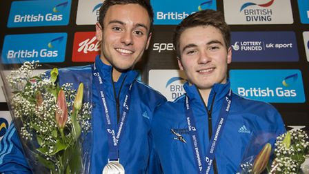 Dan Goodfellow and Tom Daley. Paul Sanwell/OP Photographic