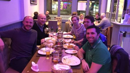 The group at Chilli Bar and Kitchen, which came top of all the restaurants reviewed. L-R: Sam Pille