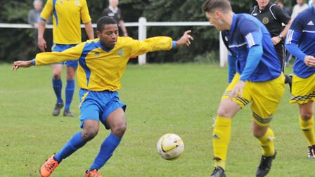 Alex Yearwood scored twice as Harpenden Town hit six. Picture: DANNY LOO