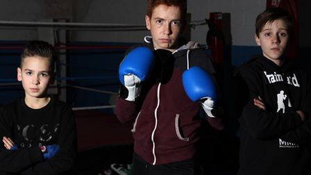 Ted Smith, Frank Crotty and Aaron Kavanagh are members of Royston Amateur Boxing Club