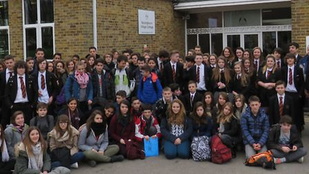 The French pupils enjoyed their visit to Bassingbourn Village College.