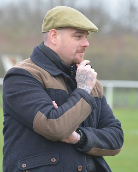 New Huntingdon Town manager Bob Warby watches his team in action for the first time. Picture: HELEN
