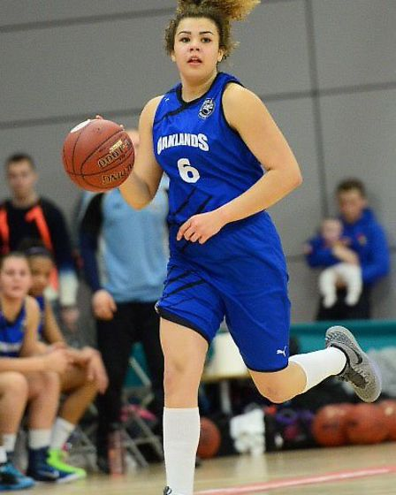 Kyla Nelson, in action for Oaklands Wolves, will represent GB in two EuroBasket qualifiers