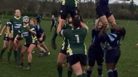 Harpenden's Elizabeth Sherman, seen claiming a line-out, has been selected for the London and South