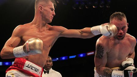 Tommy Martin during his WBA Continental title win against Michael Devine. Picture: LAWRENCE LUSTIG