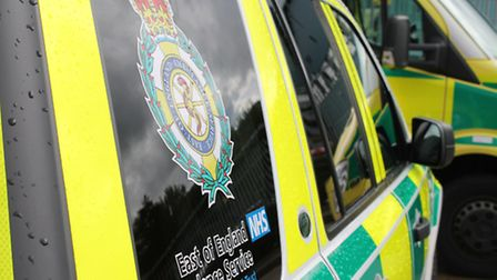 The ambulance attended the incident in Wheathampstead this morning (Thursday)