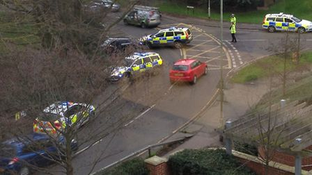 Herts Police have arrested four men in Harpenden after a car chase through the town