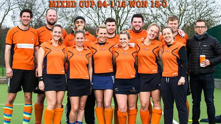 The mixed side secured a 15-0 win over Essex University in the first round of the Mixed Cup. Picture