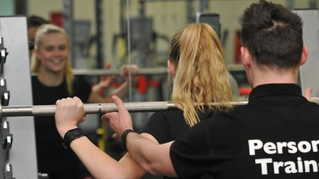 Personal Trainer Sam Hart coaches Herts Advertiser's Sophie Crockett at Westminster Lodge