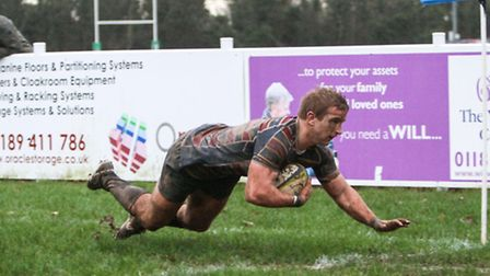 Harry Bate added to his try tally this season with one more against Bishop's Stortford. Picture: NEI