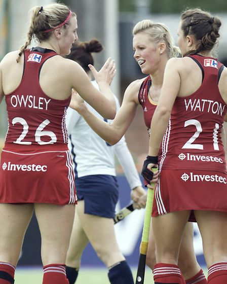 Ellie Watton should reach a combined total of 50 caps for GB and England. Picture: FRANK UIJLENBROEK