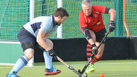 Action from St Neots Men's 1sts victory against Wisbech 2nds. Picture: HELEN DRAKE