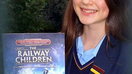 Xanthe Gibson plays Edwina in the ensemble in 'The Railway Children'