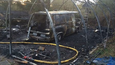 Arsonists set fire to an outbuilding in Houghton.