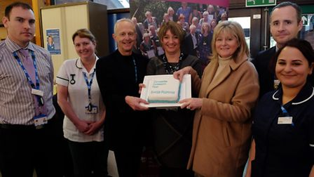 The launch of the Rapid Response team at St Albans City hospital L-R Team manager John Harle, therap