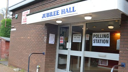 Polling Station, at Jubilee Hall, Eaton Socon,