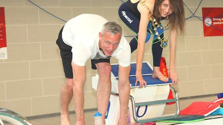 Local Olympic swimmer Mark Foster in training