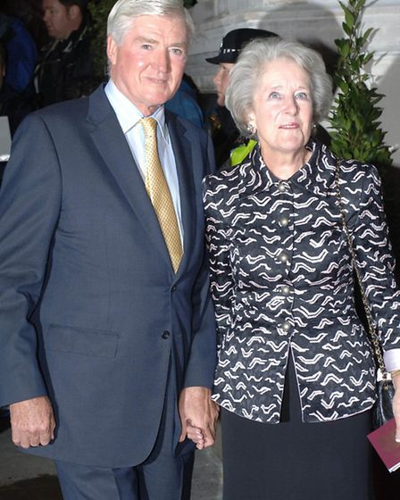 File photo dated 13/10/05 of Lord and Lady Parkinson, whose family have announced his death. PRESS A