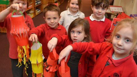 Chinese New Year celebrations, at Ramsey Spinning Infants School,