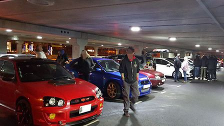 Hundreds of cars attended the 'pull up and pose' event.