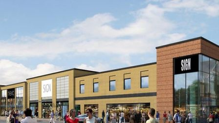 Artist's impression of Chequers Court, Huntingdon