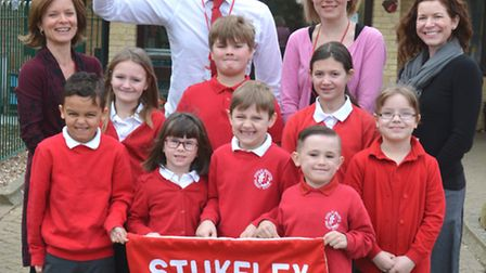 Stukeley Meadows Primary School Ofsted, pupils Starr, Mikaeel, Alex, Lily, Thompson, Tegan, Shay, an