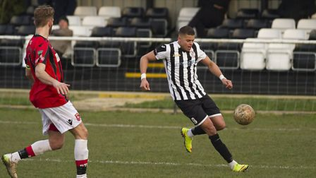 Andrew Phillips struck the only goal for St Ives Town. Picture: LOUISE THOMPSON