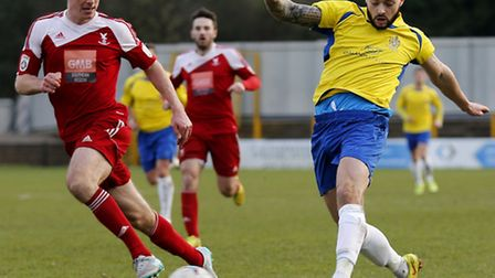 Louie Theophanous was one of four players brought into the St Albans City team for the visit of Sutt