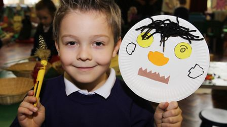 Adam takes part in activities during Curriculum Day at Roman Way First School in Royston
