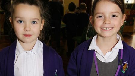 Ella and Emilia take part in activities during Curriculum Day at Roman Way First School in Royston