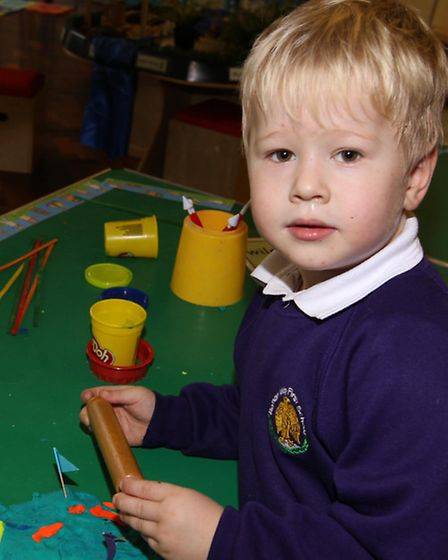 Damian takes part in activities during Curriculum Day at Roman Way First School in Royston