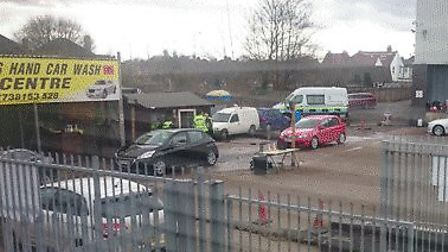 There was an immigration raid at St Albans Car Wash yesterday (Thursday)